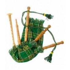 Junior Playable Bagpipe Irish National Tartan Cover