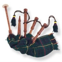 Kids Playable Bagpipe Hunting Stewart Tartan Bag Cover