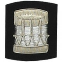 Drum Badge Silver Bullion on Black