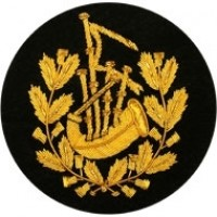 Pipe Major Badge Gold Bullion on Black