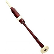 Practice Chanter Brown Wood in White Plastic Fitting