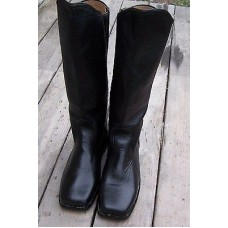 Cavalry Knee High Leather Black Boots Size 10 01