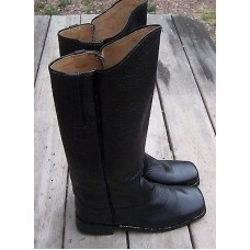 Cavalry Leather Black Boots Size 10 01