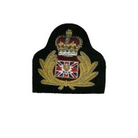 HAND EMBROIDERY BLAZER BULLION CAP BADGE.