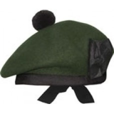 Dark Green Scottish Balmoral Cap