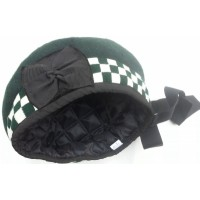 Green Balmoral Hat WHITE/GREEN Diced in assorted sizes