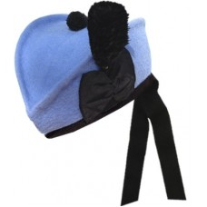 Glengarry Hat Sky Blue wool body