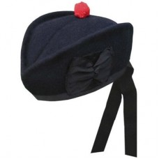 Navy Blue Plain Glengarry Cap