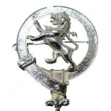 Circular Mounted Chrome Lion