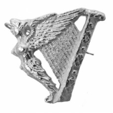 Irish Harp Cap Badge