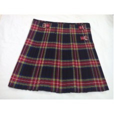 Black Stewart Tartan Scottish Kilt.