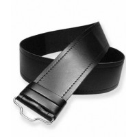 Real Black Leather Kilt Belt