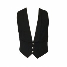 Argyll Waist Coat Black 5 Thistle Chrome Buttons