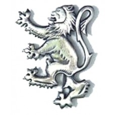 Chrome Lion Rampant Kilt pin