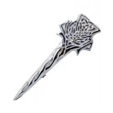 Celtic Knotwork Shape Kilt Pin Crest Mounted Chrome