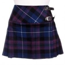 Honord of Scotland Tartan Ladies Mini Billie Pleated Kilt Skirt