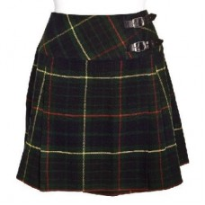 Hunting Stewart Tartan Ladies Mini Billie Pleated Kilt Skirt