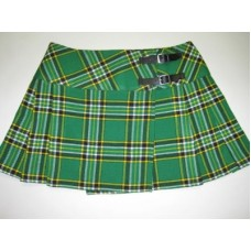Irish National Tartan Ladies Mini Billie Pleated Kilt Skirt