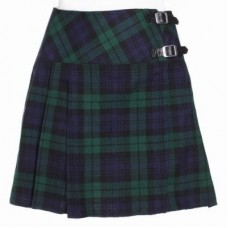 Ladies Black Watch Tartan Scottish Mini Billie Kilt