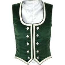 Green Cotton Velvet Vest