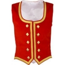 RED Cotton Velvet Vest