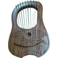 Lyre Harp Beautiful Scottish Thistle Design Fully Hand Craft Work Man Ship.