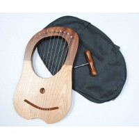 Solid ROSE-wood body Lyre Harp