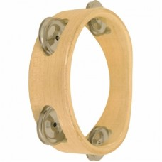 Wooden Tambourines 06 inches 4 Pairs Jingles