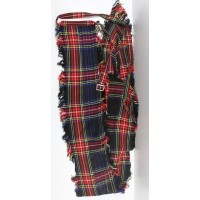 Black Stewart Tartan Drummer Plaid