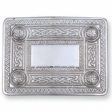 Celtic Belt Buckle Chrome Finish