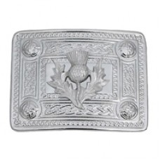 Celtic Belt Buckle with Thsitle Badge