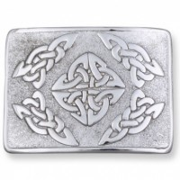 Celtic Square Belt Buckle Chrome