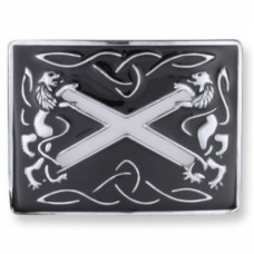 Lion Rampert Black Enamel Buckle