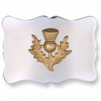 Nickle Plated Buckle Golden Thistle