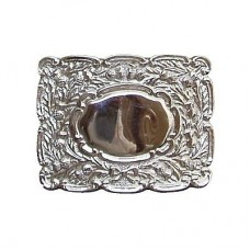 Oval Thistle Scottish Belt Buckle